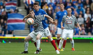 Andrew Robertson in action for Queen's Park against Rangers at Ibrox in 2012.