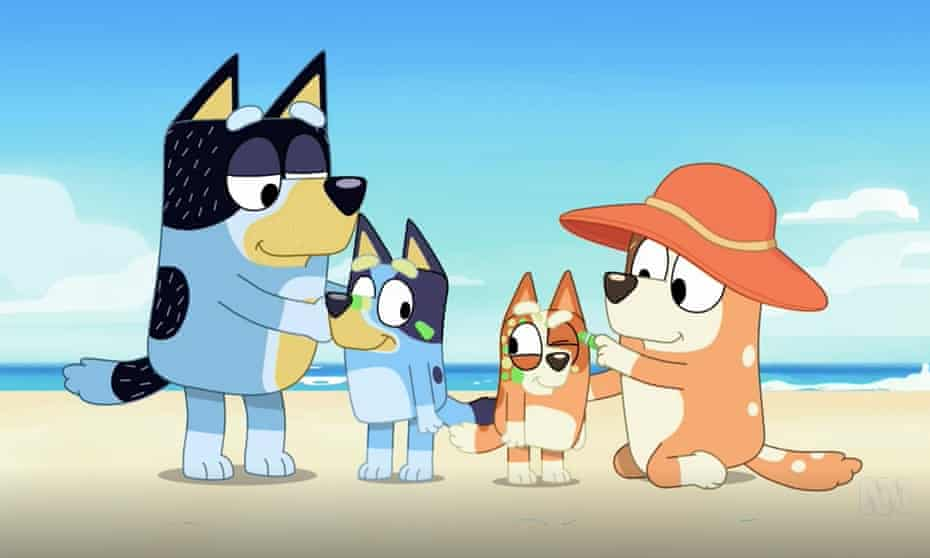 A still from the first season of ABC TV show Bluey