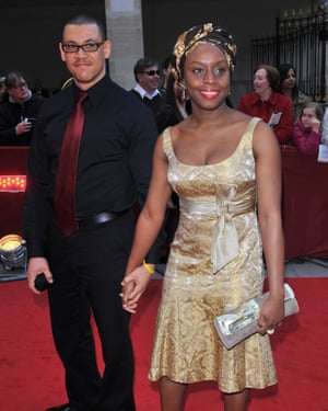Chimamanda Ngozi Adichie with husband Ivara Esege