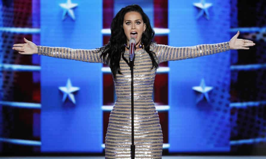 Katy Perry performs during the final day of the Democratic National Convention in Philadelphia in July.