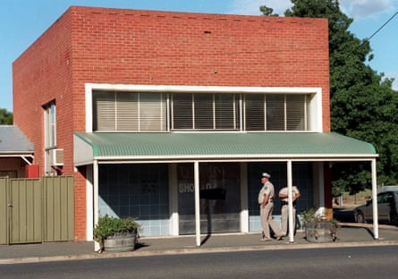 Suburban horror … the disused bank in Snowtown, South Australia, where police discovered eight bodies hidden in barrels.