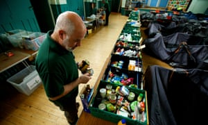A food bank at Queen's Road Baptist Church in Coventry.