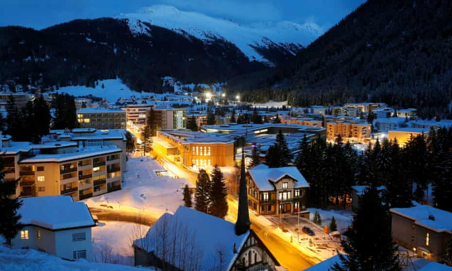 The congress centre in the Swiss mountain resort of Davos, the venue of the upcoming World Economic Forum.