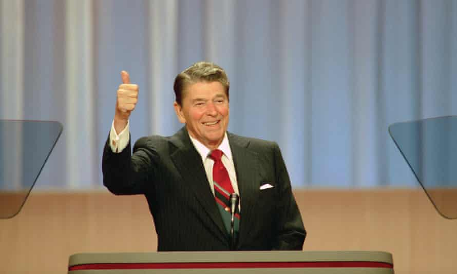 Ronald Reagan: 'charmed the public and world leaders alike'.