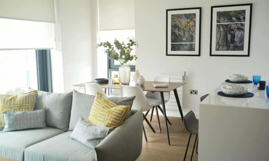 A flat in a large build-to-rent development in Wembley Park, London.