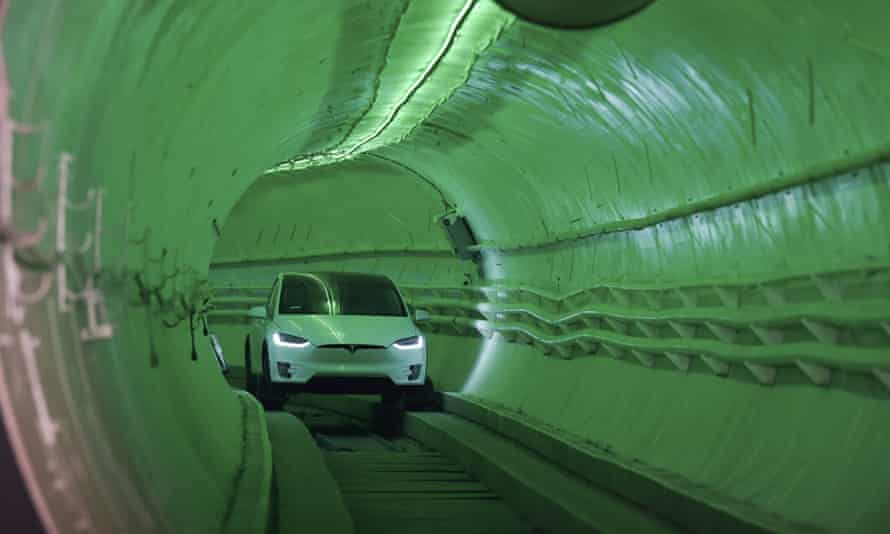 The Boring Company's Hawthorne test tunnel.