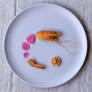 Tom Hunt's crisp prawn heads and tails with shell salt