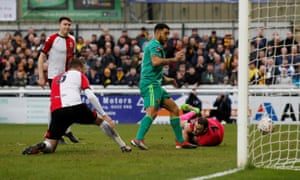 Troy Deeney scores from close range three minutes after coming on as a substitute for Watford against Woking.