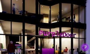 Virtual designs of the Purple Door theatre in Liverpool.