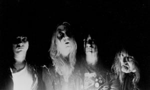 Norwegian black metal band Mayhem.