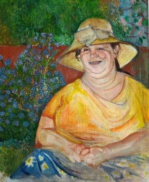 Rochelle Ikin, a foundation art student, says: 'This portrait is of my Auntie. I sought to capture her likeness and personality, focusing on happiness, energy, life, and beauty.'Photo: Rochelle Ikin