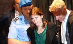 Amanda Knox arrives in court for her appeal trial session in Perugia in 2011.