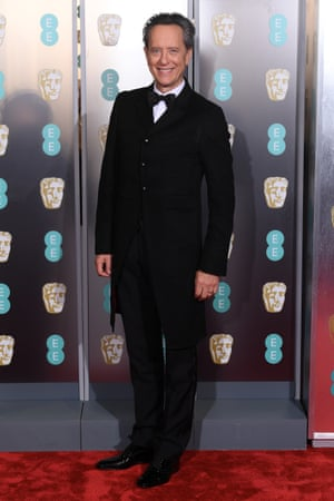 Taking a bow … Richard E Grant, star of Can You Ever Forgive Me? wearing Ozwald Boateng