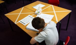 Physical distancing measures at Kempsey primary school in Worcester.