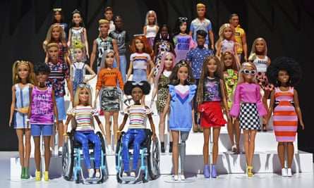 The Barbie Fashionistas 2019 collection includes dolls in wheelchairs, with new body types, and new hair textures.