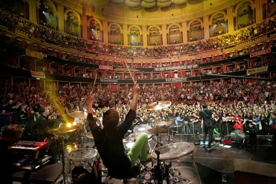 Muse on stage at the Royal Albert Hall in 2008.