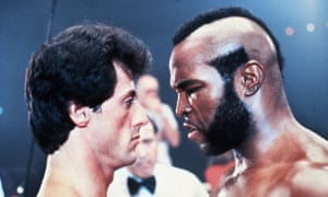 Clubber Lang, right, played by Mr T, should totally have beaten Sylvester Stallone's character in Rocky III, according to Bernie Sanders and the Clubber Victory Affiliation.