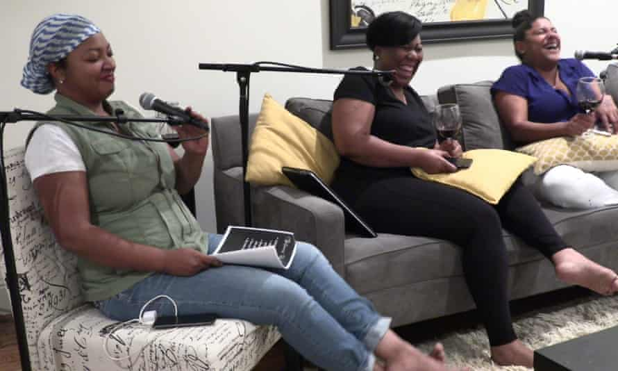 Danielle, Sharonda and Michel, who make the Between Us Girls podcast