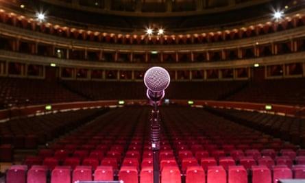 An empty Royal Albert Hall.