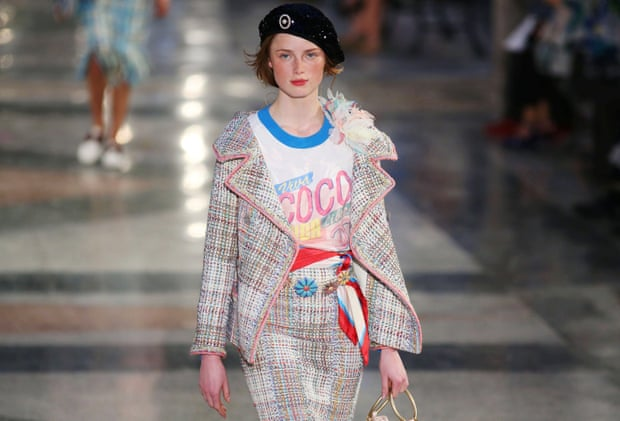 A model takes part in the Chanel show in Cuba.