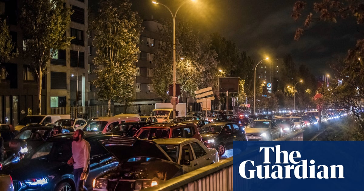 Paris region sees record traffic jams ahead of lockdown – The Guardian