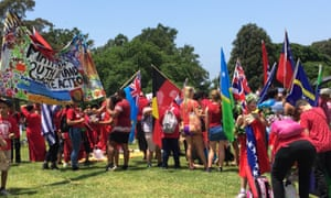 Pacific Islands will be on the 'frontline' of climate change, the Sydney climate change march is told.