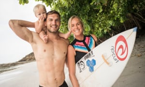 Bethany Hamilton with husband Adam Dirks and youngest son Wesley.