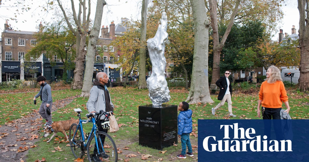 Mary Wollstonecraft statue becomes one of 2020's most polarising artworks