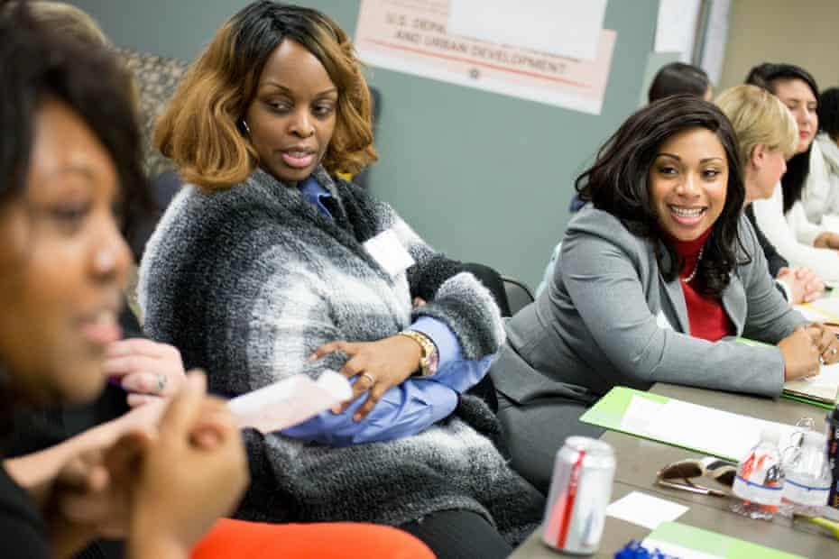 Women participate in the Emerge Virginia program, which prepares Democratic women to run for office.