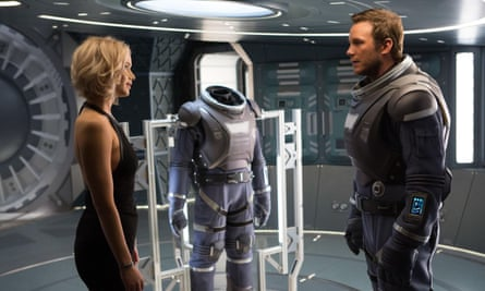 Well suited … Jennifer Lawrence and Chris Pratt in Passengers.