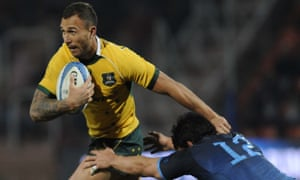 Australia's Quade Cooper in action during the victory over Argentina in Mendoza.