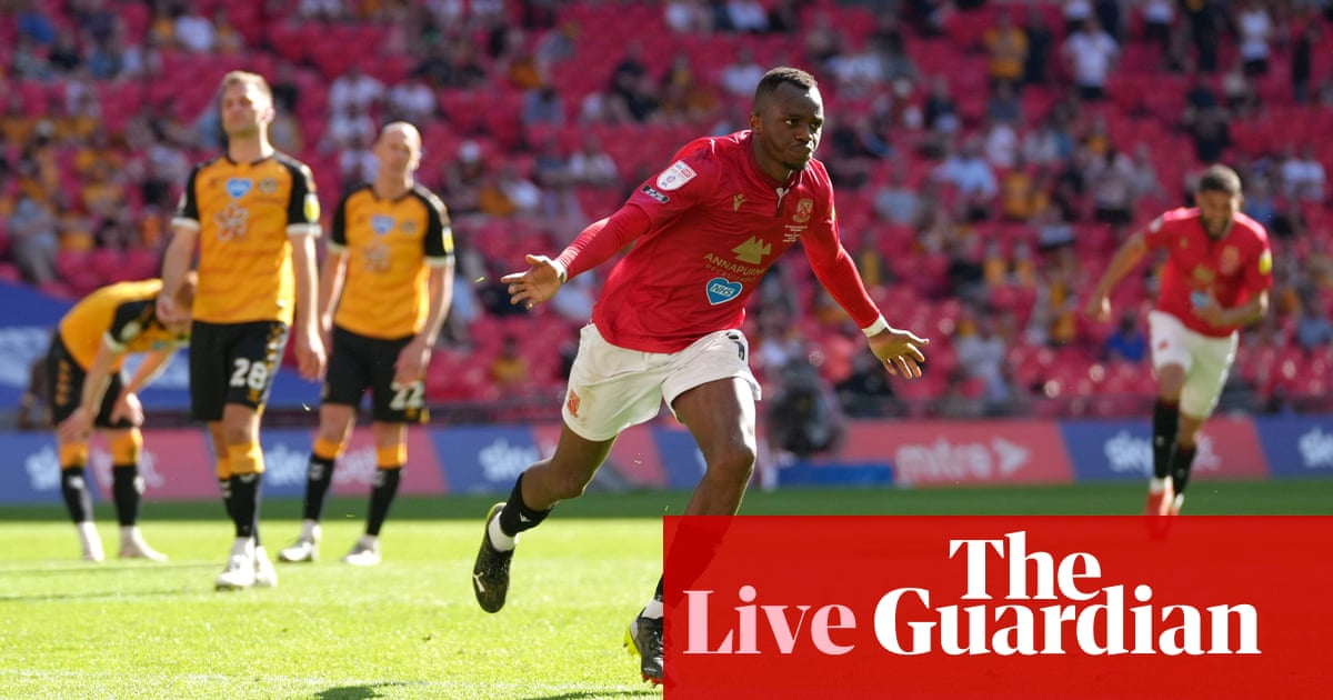 Morecambe 1-0 Newport (aet): League Two play-off final – as it happened