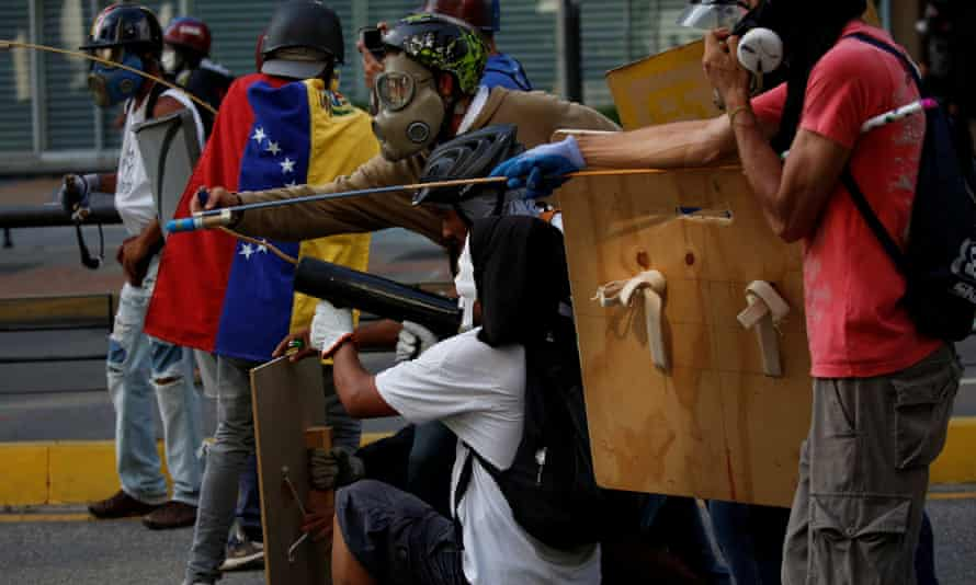 Opposition supporters at a rally against President Maduro in Caracas on Saturday.