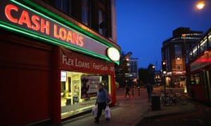 A general view of a 'Speedy Cash' cash loans shop on Brixton High Street on November 1, 2012