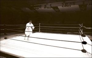 Muhammad Ali, Shadowboxing, Madison Square Garden, NYC, 1977