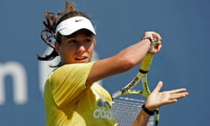 A 16-year-old Johanna Konta practices at Flushing Meadow in New York in 2007, not long after she settled in London with her family.