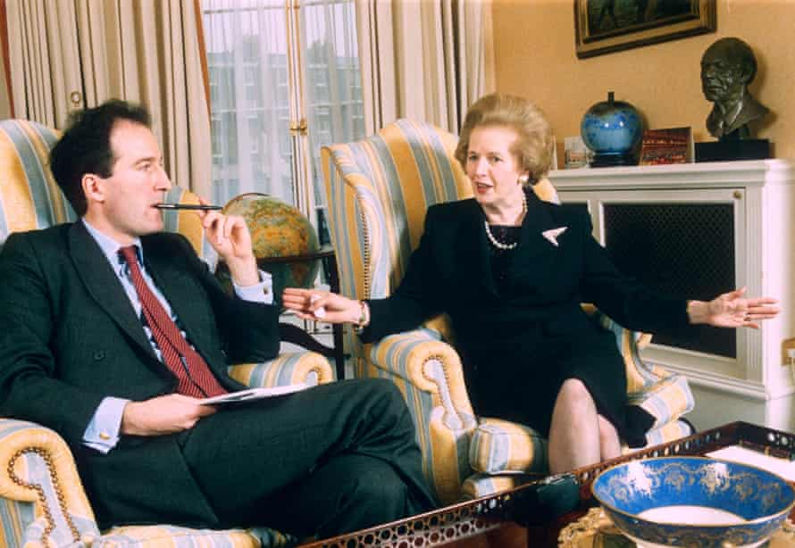 Charles Moore, Margaret Thatcher's official biographer, with the former prime minister in 1995.