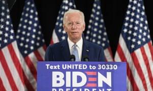 Joe Biden speaks during an event in Dover, Delaware, on Friday.