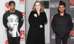 Drake, Adele and the Weeknd: still hanging on the telephone.