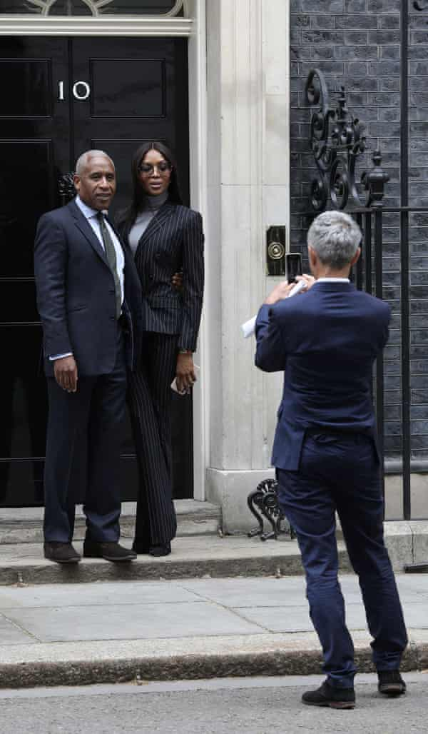 Woolley with Naomi Campbell at Downing Street in 2018.