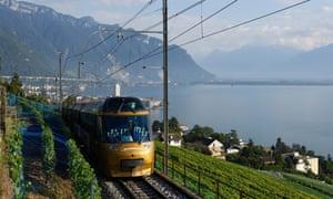 The Golden Pass train near Montreux.