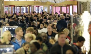 Black Friday Shopping Rush at New York City's Macy's in Herald Square In New York City<br>