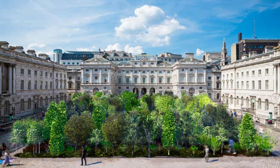 An artist's impression of the Forest for Change installation at Somerset House.