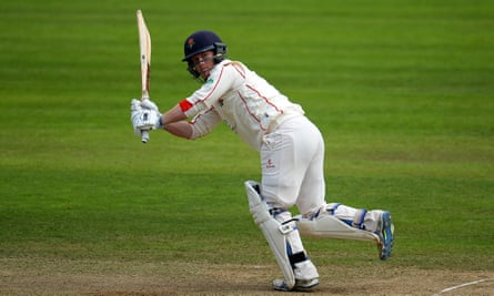 Alex Davies in action for Lancashire against Somerset at the County Ground in Taunton.