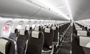 Seating inside Bombardier CS100