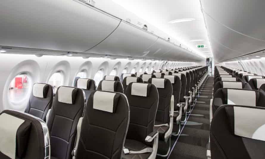 Seating inside Bombardier CS100
