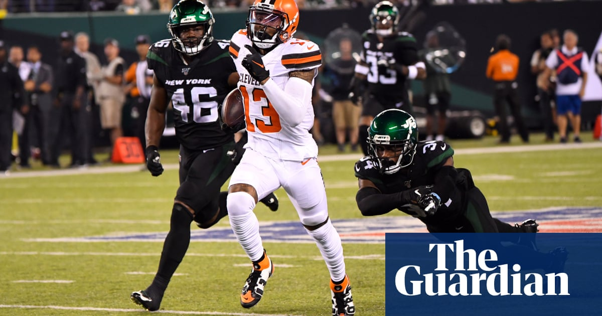 Odell Beckham stars as Browns beat limping Jets for first win of the season