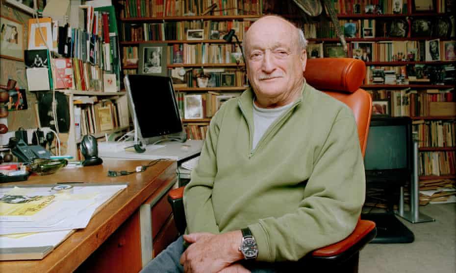 Al Alvarez at his home in Hampstead, north London, in 2008.