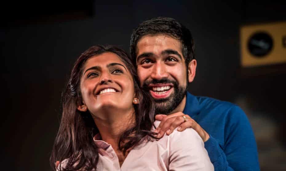 The long goodbye … Komal Amin and Maanuv Thiara in Love N Stuff at Oldham Coliseum.