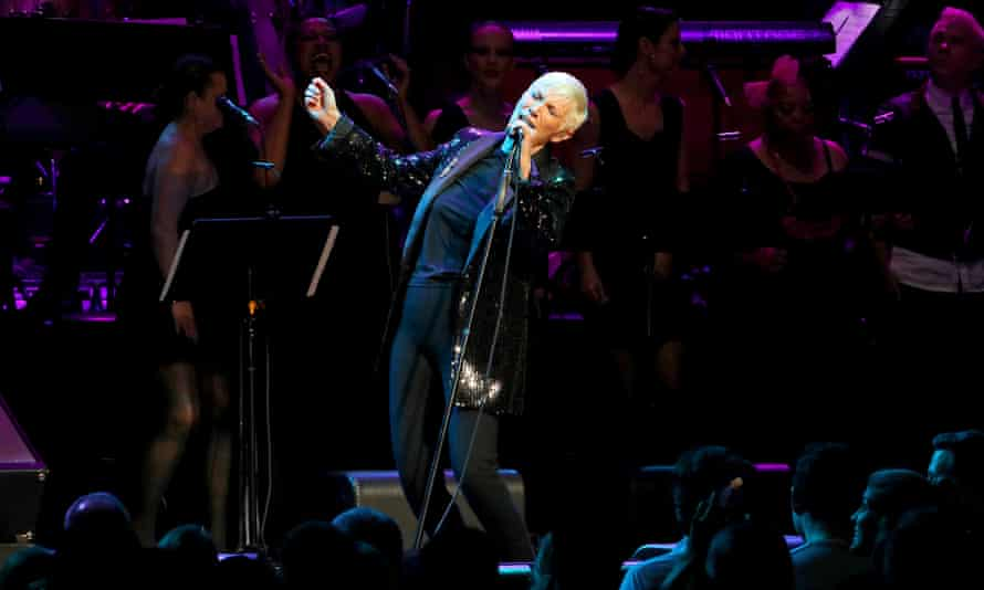Annie Lennox, performing last December at the Rainforest Fund 30th anniversary benefit concert, New York.